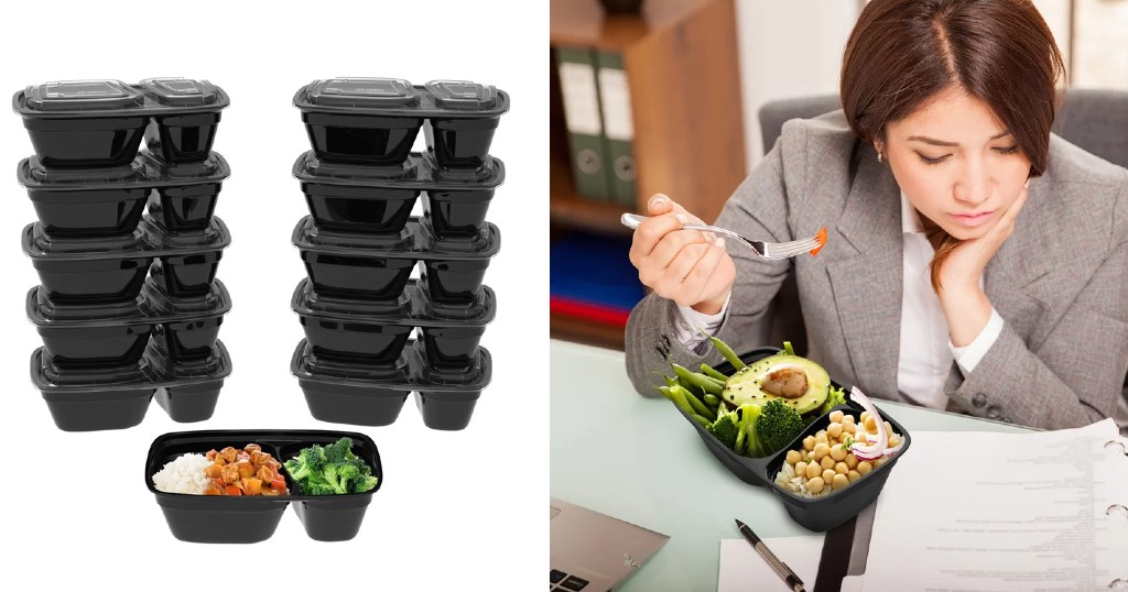 Set de Envases para Almacenar Fugate Meal Prep de 10 Piezas a solo $10.99 (Reg. $40) en Wayfair