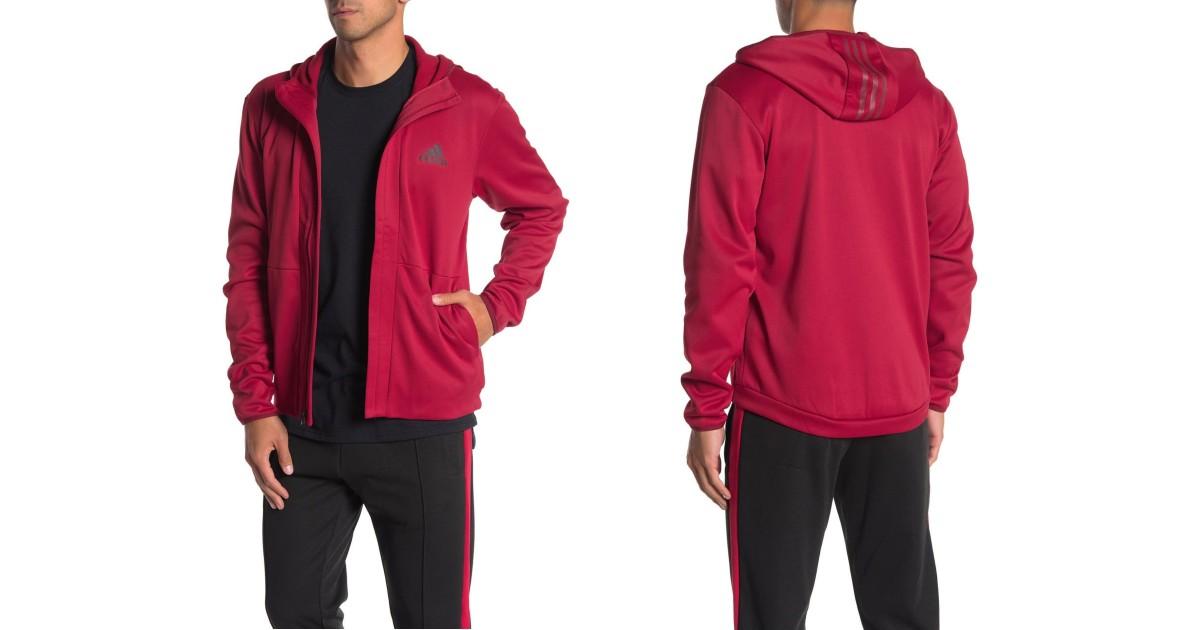 Adidas Full Zip Hoodie SOLO $26.23 en Nordstrom Rack (Reg $65)