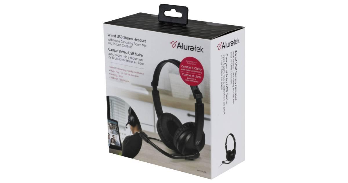 Audífonos Stereo Aluratek con Micrófono a solo $9.99 en Best Buy (Reg. $30)