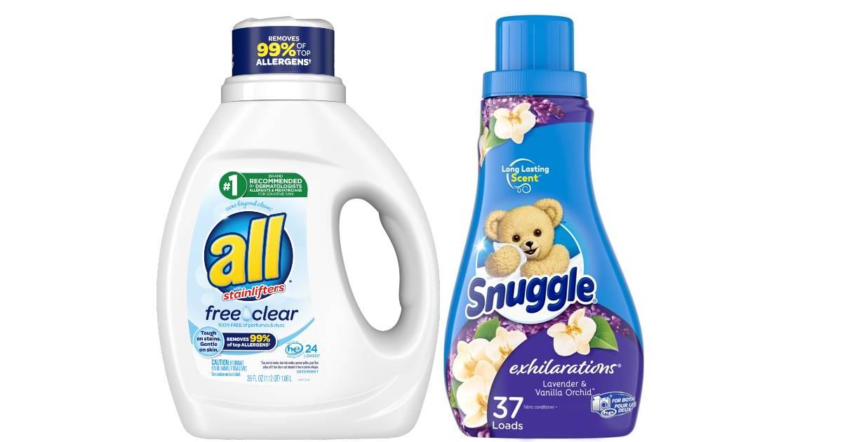 Lee más sobre el artículo Detergente All o Snuggle SOLO $1.88 en Walgreens