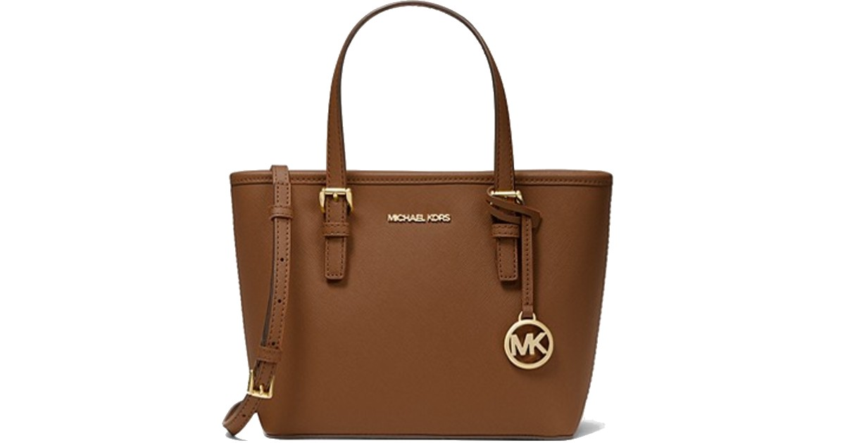 Michael Kors Jet Set Travel Extra-Small Saffiano Leather Top-Zip Tote Bag