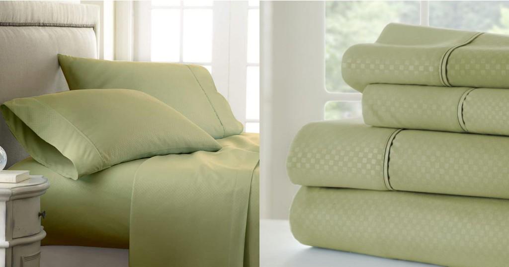 Set de Sábanas Casual Comfort Premium Ultra Soft Checkered a solo $10.49 (Reg. $70)