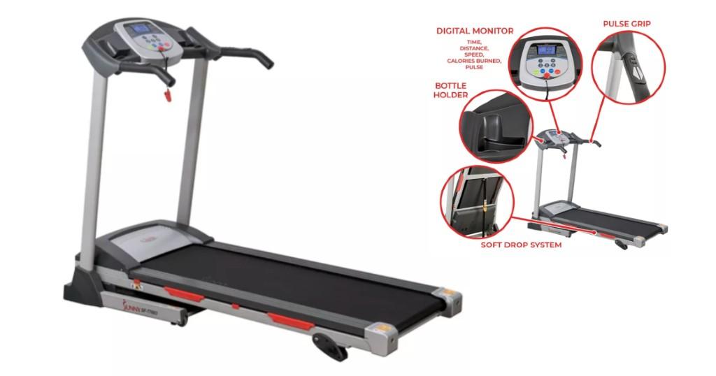 Sunny Health & Fitness Electric Treadmilla solo $522.99 (Reg. $747.50)