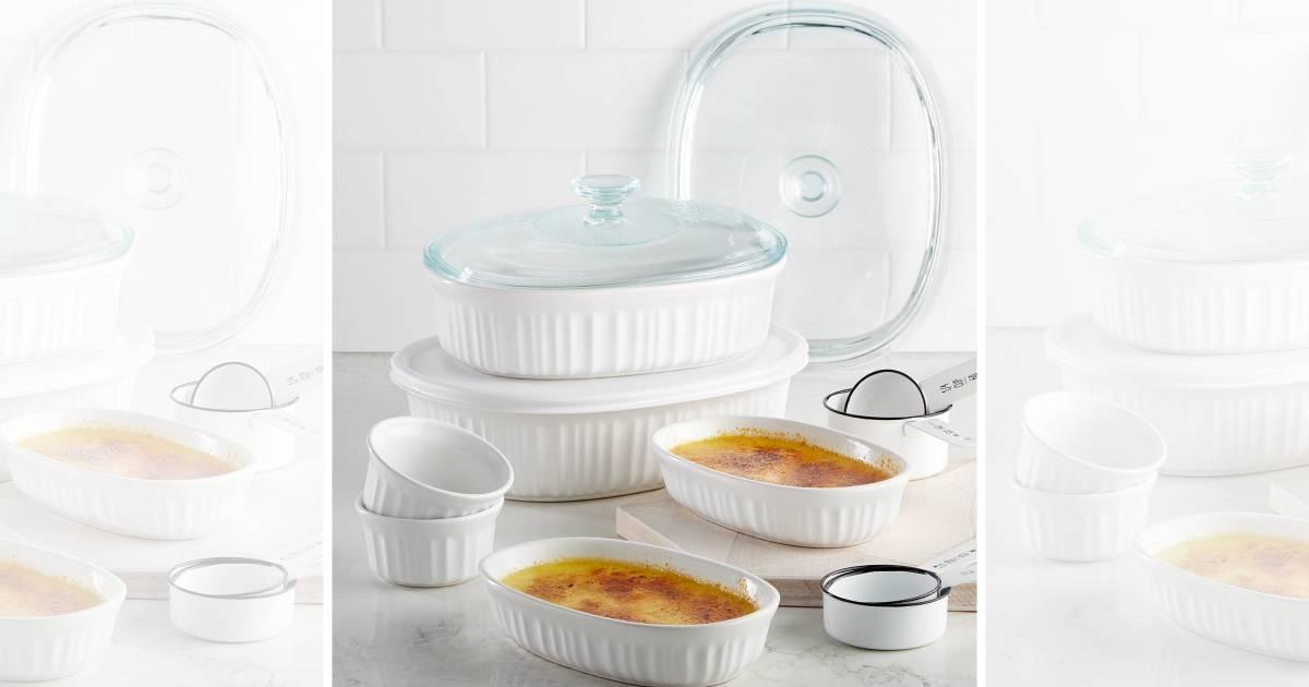Set de 10 Piezas Corningware para Hornear SOLO $39.99 en Macy's (Reg $80)