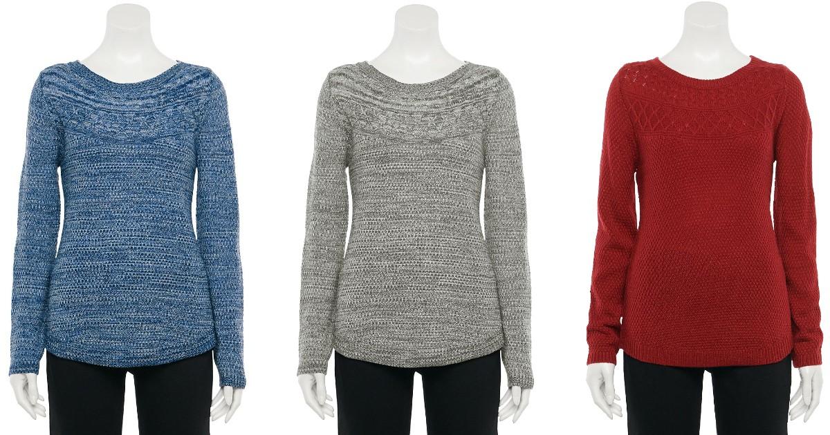 Croft & Barrow Sweater SOLO $2.40 en Kohl's (Reg $30)