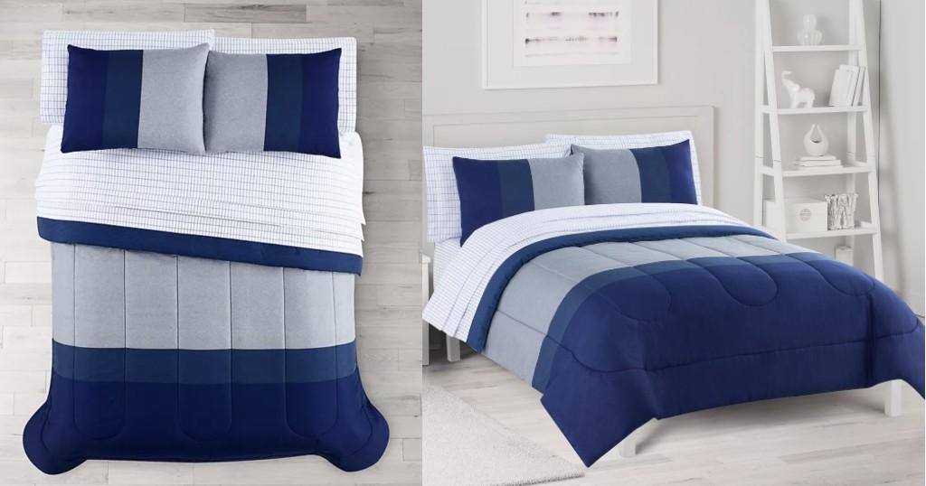 Set de Comforter Reversible The Big One Kellan Stripe