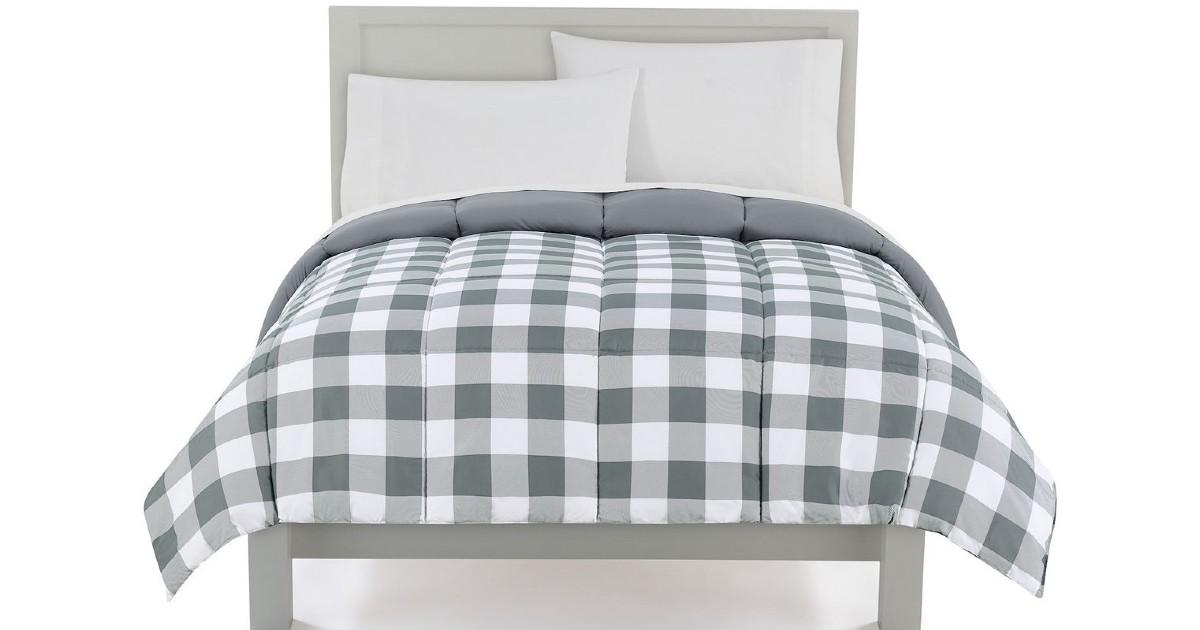 The Big One Down-Alternative Reversible Comforter SOLO $7.49 (Reg $100)