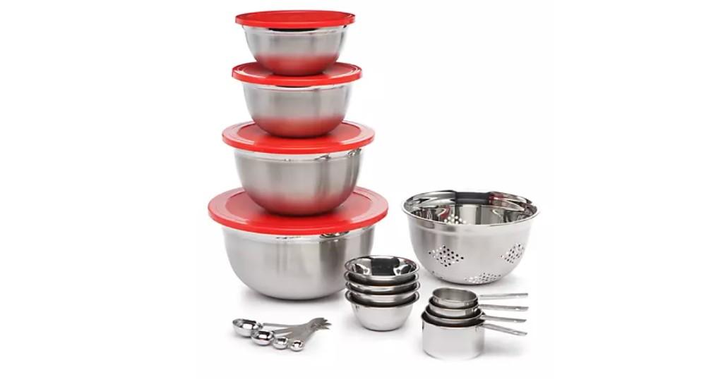 Lee más sobre el artículo Set Cooks Tools de 21 Piezas Stainless Steel a SOLO $20 (Reg. $50)