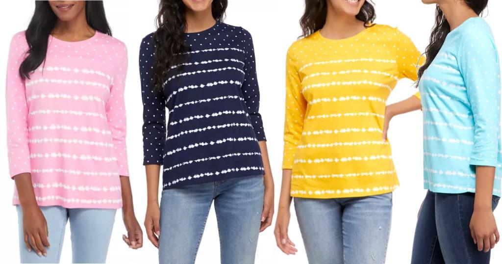 Lee más sobre el artículo Camisas Kim Rogers a solamente $8 (Reg. $29.50)