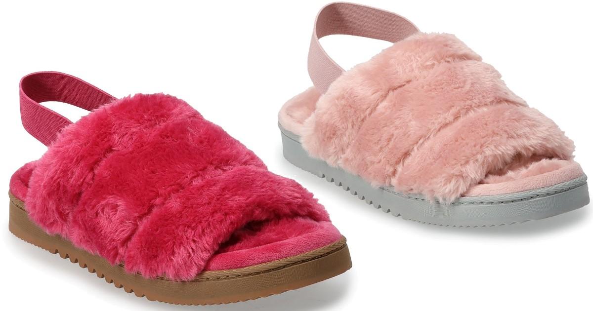 Lee más sobre el artículo Faux Fur Slippers SOLO $8.33 en Kohl's (Reg $28)