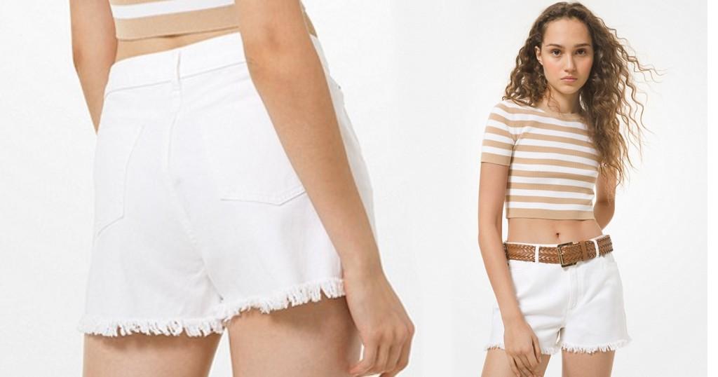 Lee más sobre el artículo Pantalón MK Frayed Denim Shorts a SOLO $39 (Reg. $98)