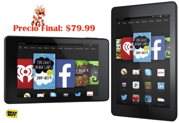 $20 Off Kindle Fire Tablets  a solo $79.99 en Best Buy